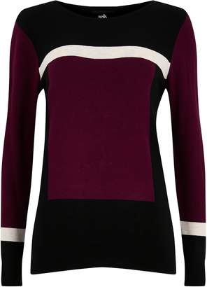 Wallis Berry Colourblock Jumper
