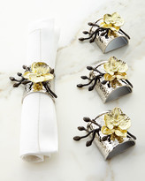 Michael Aram Four Gold Orchid Napkin Rings