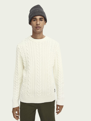 Scotch & Soda Cable-knit crewneck pullover   Men