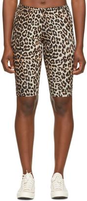 Ganni Black and Brown Underwear Shorts