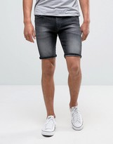 Tommy Hilfiger Denim Scanton Slim Denim Shorts In Faded Grey Dark Wash