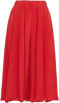 Victoria Beckham Pleated silk crepe de chine culottes