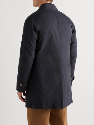 Valstar Leather-Trimmed Cotton-Blend Twill Down Trench Coat