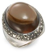Pomellato67 67 Collection Man-Made Smoky Quartz, Marcasite & Sterling Silver Ring