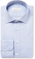 Etro Blue Slim-Fit Cotton-Jacquard Shirt