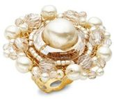 Miriam Haskell Faux Pearl Ring