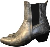 IRO Silver Leather Boots