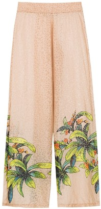 AMIR SLAMA Silk Printed Trousers