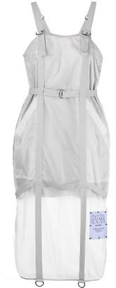 Mcq Swallow Sheer Panel Midi Dress