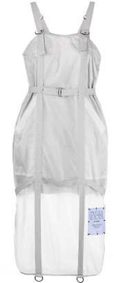 Sheer Panel Midi Dress