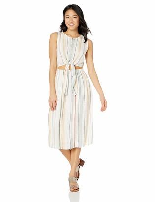 RVCA Womens Arizona Fitted MIDI Dress