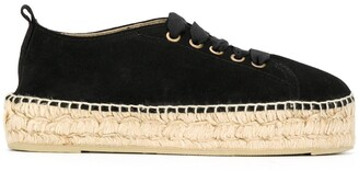 Manebi Platform Lace-Up Espadrilles
