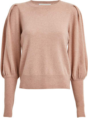 Jonathan Simkhai Cashmere Blouson Sleeve Sweater