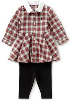 Ralph Lauren Baby Girls 3-24 Months Plaid Shirtdress & Leggings Set