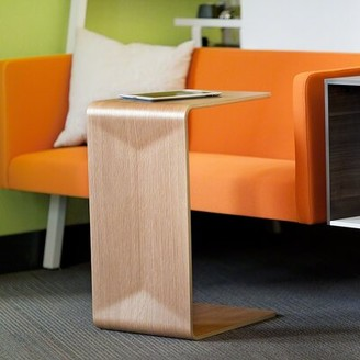 Steelcase Campfire C Table End Table Color: Natural Oak Veneer