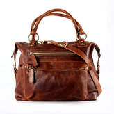 The Leather Store Brown Leather Handbag Zip Tote
