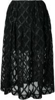 Simone Rocha embroidered semi-sheer skirt - women - Polyamide/Polyester/Polyurethane - 6