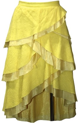 Marc Jacobs Yellow Cotton Skirts