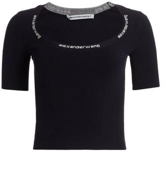 Alexander Wang Jacquard Trim Bodycon T-Shirt