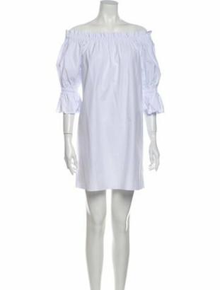 Alice + Olivia Off-The-Shoulder Mini Dress w/ Tags White