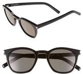 Saint Laurent Women's 49Mm Sunglasses - Black Solid Smoke