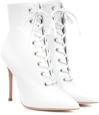 Gianvito Rossi Exclusive to Mytheresa Lace-up leather ankle boots