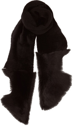 Gushlow & Cole Shearling Mixed Texture Scarf