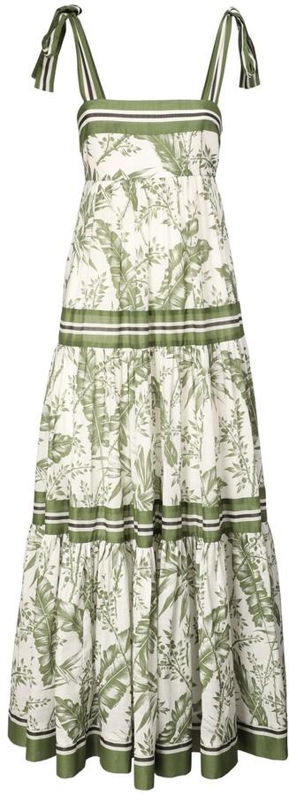Zimmermann Empire Printed Cotton Maxi Dress