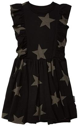 Nununu Ruffled Star Dress (Little Kids/Big Kids) (Black) Girl's Dress