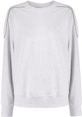 Brunello Cucinelli Glittery Piping Sweatshirt