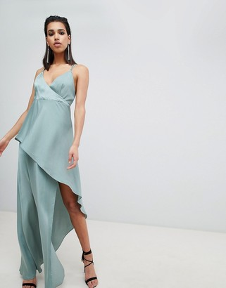 The Jetset Diaries asymmetric wrap maxi dress