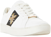 Dune Ebie Embellished Lace Up Trainers, White