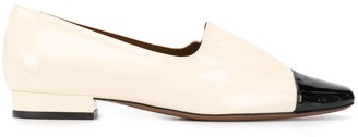 L'Autre Chose contrasting toe loafers