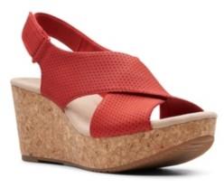 Clarks Collection Women's Annadel Parker Wedge Sandals Women's Shoes