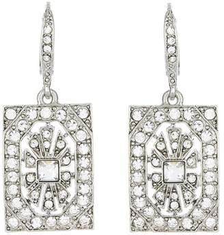 Oscar de la Renta Crystal Square Earrings