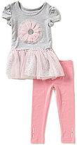Flapdoodles Little Girls 2T-6X Tutu Dress & Leggings Set