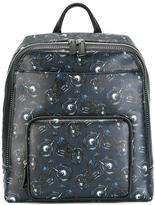 Salvatore Ferragamo motorcycle print backpack