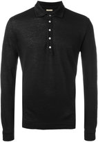 Massimo Alba long sleeved polo shirt - men - Linen/Flax - S