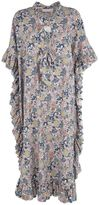 See by Chloe Lace-up Printed Cotton And Linen Caftan Dress