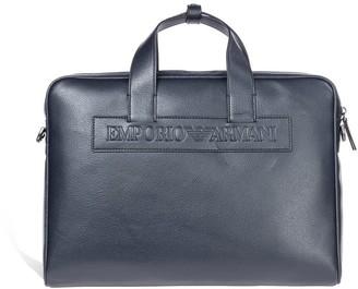 Emporio Armani Blue Navy Briefcase