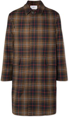 Mr P. Checked Twill Overcoat