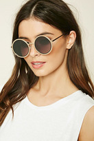 Forever 21 FOREVER 21+ Metal Round Sunglasses