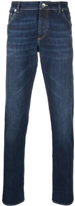 Brunello Cucinelli Straight-Leg High Rise Jeans