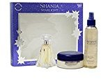 Coty Shania Twain Starlight Gift Set for Women (Eau De Toilette Spray, Body Mist, Body Souffle) + FREE Schick Slim Twin ST for Sensitive Skin