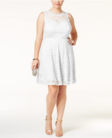 Love Squared Trendy Plus Size Lace Fit and Flare Dress