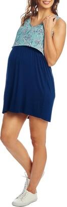 Everly Grey Mahina Maternity/Nursing Tank Dress