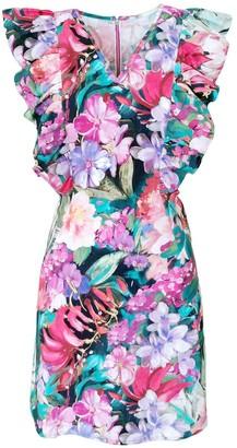Lalipop Design Above Knee Cotton Dress With Floral Prints