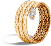 John Hardy Women's Legends Cobra Coil Bracelet in 18K Gold with Diamonds