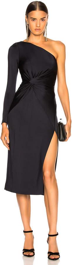 Cushnie Twist One Shoulder Dress