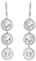 Andrea Fohrman Triple Drop Rock Crystal Earrings with Diamonds - White Gold